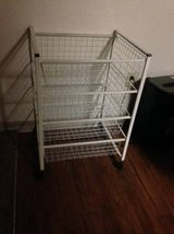 4 Tier white Rolling Multi Function Utility Cart in Hill AFB, UT