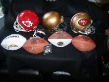 Joe Montana game worn Autographed Helmets KC SF ND in Travis AFB, California