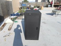 middle atlantic powder coat black server cabinet model wrk-24sa-32 in Huntington Beach, California