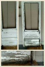 Old Chippy Paint Wood Door Screen in Lockport, Illinois