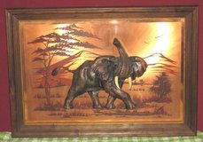 ELEPHANT ON COPPER PAINTING BY JOHN LOUW in Bartlett, Illinois