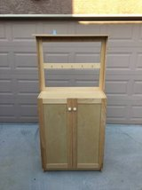 Wooden Storage Cabinet with Hooks (for hanging misc. items) in Travis AFB, California