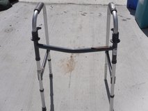 folding adjustable height aluminum walker heavy duty used / pick up only 110173 in Fort Carson, Colorado