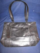 "COACH Leather Purse Black #0646-129 LARGE 12.5"" x 17.5"" x 4.5"" VINTAGE in Glendale Heights, Illinois"