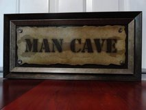 MAN CAVE WOODEN WALL ART GARAGE SIGN in Travis AFB, California