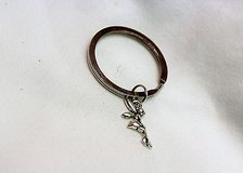 NWOT Tinkerbell pixie fairy princess silver tone key ring chain holder car truck in Houston, Texas