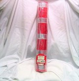 "Holiday time 18"" x 15 ft deco mesh decorative poly white ploy red stripe in Kingwood, Texas"