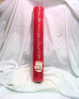 """holiday time 18"""" x 15 ft deco mesh decorative poly red ploy red stripe in Kingwood, Texas"""