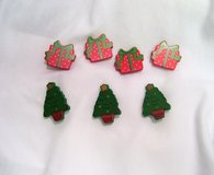 Button Covers Vintage retro Christmas tree gift present holiday 8 button covers snap closure Red... in Kingwood, Texas