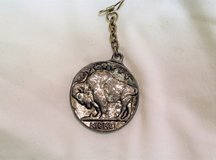 buffalo nickel key chain pendant medallion one penny indian native american usa in Kingwood, Texas