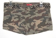 Bongo Black Sequin Waist Camouflage Mini Short Shorts Womens 7 Juniors in Morris, Illinois