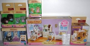 New! Calico Critters Bedroom Set Grandparents Twins & Loft Bed Sets in Naperville, Illinois