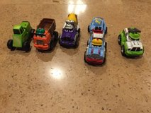 lot of 5 tonka die cast mixed trucks and cars in Bolingbrook, Illinois