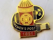 Vintage holidays ent new jersey nj fire department 1851 lapel pin 30 96 enamel in Kingwood, Texas