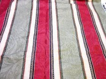 "Richloom striped maroon green heavy sewing red cotton fabric 53""x54&"" & 53 x 36"" yd in Houston, Texas"