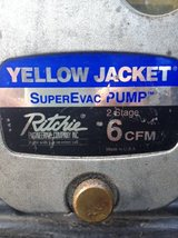 * * * YELLOW JACKET VACUUM PUMP (REFRIGERANT EVACUATION PUMP) in Savannah, Georgia