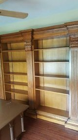 2 ORNATE WALL BOOKCASES FROM COSTCO in Great Lakes, Illinois