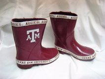 texas atm aggies kid youth rain boots ncaa football mud boots sz 3 in Kingwood, Texas