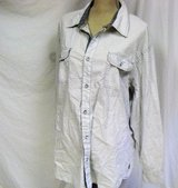 men's pd&c button up long sleeve xxl cotton diamond casual 2xl roll up sleeves in Kingwood, Texas