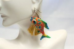 Fish Ocean Beach Red Yellow Blue Green Aquarium Coral Reef Drop Dangle Hook Sea Nemo Clown Blow ... in Kingwood, Texas