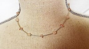"""nwt american eagle outfitter 16"""" pale pink amber strand statement necklace bead in Kingwood, Texas"""