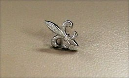 Collectible Vintage Fleur Flor de lis Silver Tone French New Orleans Tie Tack Pin New Orleans Lo... in Kingwood, Texas