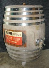 Antique Richardson's Root Beer Barrel in Naperville, Illinois
