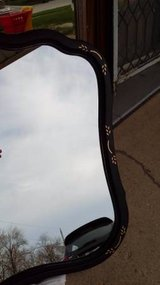 Large Black Curvy Mirror in Orland Park, Illinois