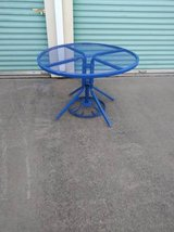 42-inch Round Outdoor Dining Table with Umbrella Stand in Sacramento, California