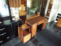 Vanity &Mirror with Night Stand*Vintage*All Wood*7 Drawers in Fort Leonard Wood, Missouri