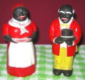 Vintage Salt & Pepper Shakers - Aunt Jemima and Uncle Mose in Bartlett, Illinois