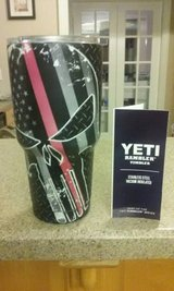 Yeti 30oz Rambler w/ Punisher Fireman Red line in Warner Robins, Georgia