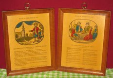Vintage/Antique Etching Engravings - Rules of Behaviour 1787 in Elgin, Illinois