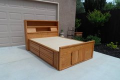 Oak Full Size Captains Bed in Travis AFB, California