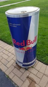 RED BULL COOLER Patio ROLLING ICE BIN REACH IN in Lockport, Illinois