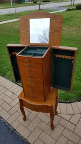 Jewelry Armorie wooden bedroom piece great shape in Naperville, Illinois