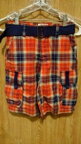 Boy's ROUTE 66 Orange PLAID CARGO SHORTS SIZE 10 (T=39) in Fort Campbell, Kentucky
