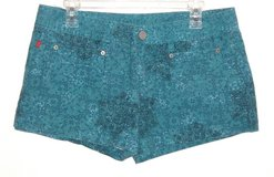 Bongo TIFFANY BLUE Floral Shorts Womens 13 Juniors in Plainfield, Illinois