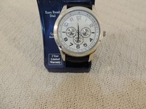 quartz large silver watch large numbers analog easy read dial 2 year warranty 51173 in Fort Carson, Colorado