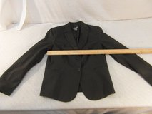 adult womens investments 10 black white striped 2 button work blazer 33977 in Fort Carson, Colorado