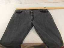 adult mens bare couture w46 / l33 black silver loose fit denim jeans 33954 in Fort Carson, Colorado