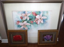 Large Framed Art - OR - 2 Small Framed Floral Pictures in Chicago, Illinois