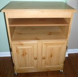 Wood Cabinet - Rolling Utility Storage Cart in Chicago, Illinois