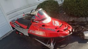 2005 Polaris RMK 800 Snowmobile 159in W/ John Deer Tilting Trailer in Lockport, Illinois