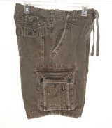 Abercrombie A-9 Drawstring Army Fatigue Olive Green Cargo Shorts Mens 28 in Morris, Illinois
