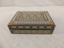 hand made jewelry box natural painted / finished small velvet lined native 51164 in Huntington Beach, California