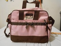 "insulated! baby essentials travel cooler bag pink brown bow 12"" x 10"" x 6"" 41056 in Huntington Beach, California"