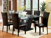 New Glass Dining Table Arched Panels  + 6 Chairs Set FREE DELIVERY in Miramar, California