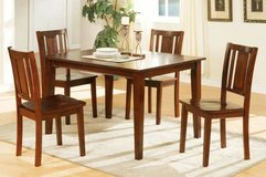 Dark Cherry Dining Set Table and 4 Chairs FREE DELIVERY in Miramar, California