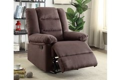 New Chocolate Brown Microfiber Recliner Chair FREE DELIVERY in Vista, California